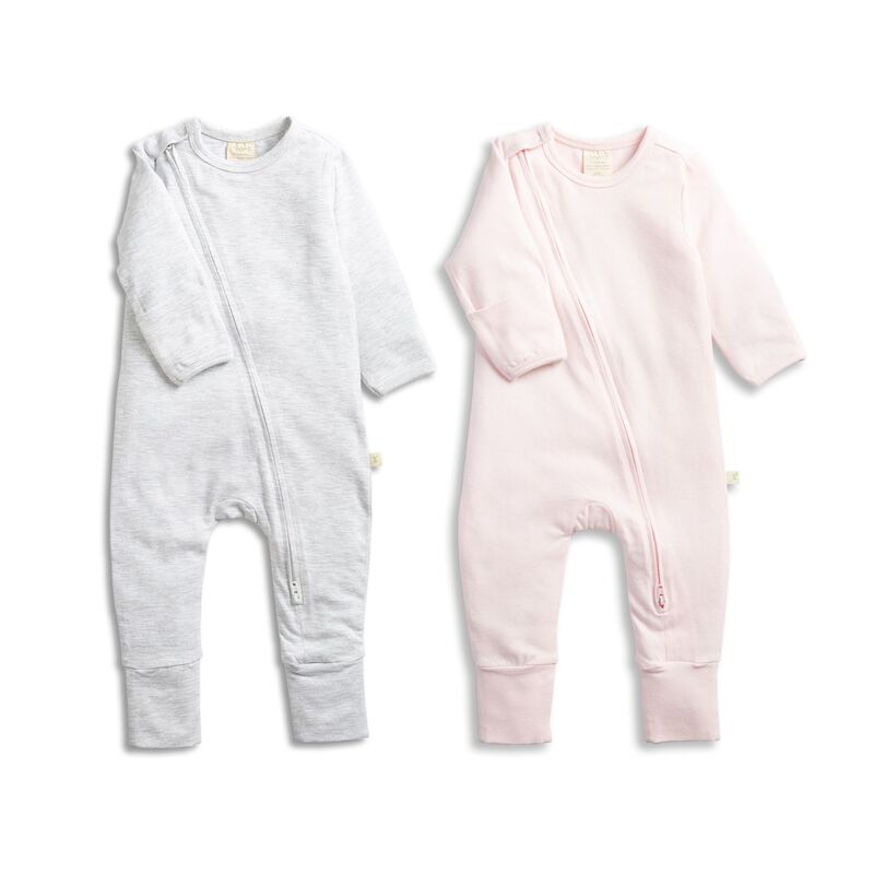 Zipsuit Twin Pack GreySoft Pink