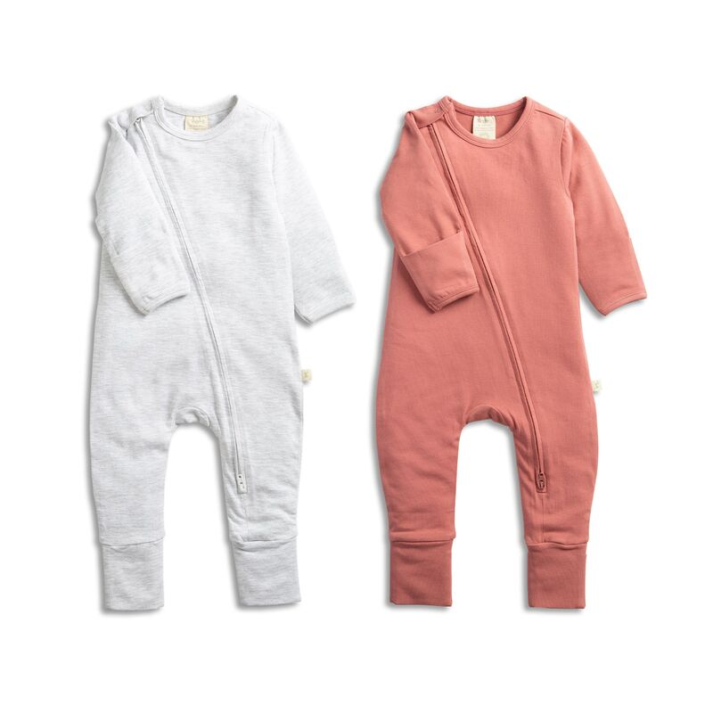 Zipsuit Twin Pack GreyStrawberry