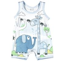 101057 Blue Playsuit