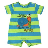 141163 Snail Striped Playsuit