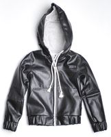 6532 Bendon Faux Leather Hoodie