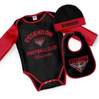 AFL Essendon Bombers Rover 3pc Bodysuit Gift Set