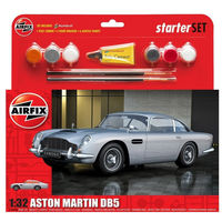 AIRFIX MEDIUM STARTER SET - ASTON MARTIN DB5 SILVER 1:32
