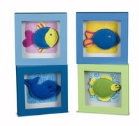 BBK-0426 Tropical Fish Felt Picture Frames - set 4