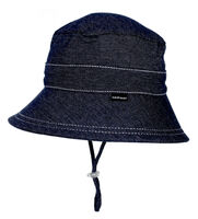 BH Denim Kids Bucket sun hat with strap UPF 50+