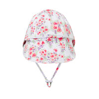 BH Grace Floral Legionnaire Hat with Chin Strap UPF50+