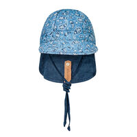 BH Paisley / Indigo Reversible Baby Flap Sun Hat