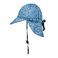 BH Paisley  Indigo Reversible Baby Flap Sun Hat