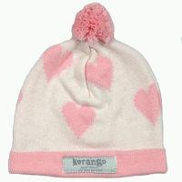 Baby Hearts Beanie - Cream