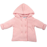 Baby Hearts Lined Knit Jacket - Pink Stripe