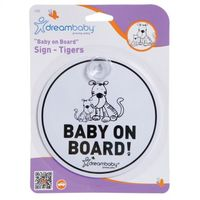 F239 Baby On Board  Tigers Sign
