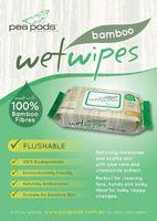 Bamboo Flushable Wet Wipes