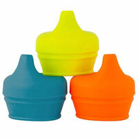 Boon Snug Spout 3pk Lids Orange Multi