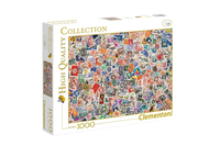 Clementoni Stamps High Quality 1000 Piece Jigsaw Puzzle