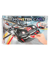 Create Your Monster Cars - Pocket Colouring