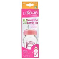 Dr Brown's 2 in 1 Transition Bottle 270ml -Pink