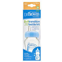 Dr Brown's 2 in 1 Transiton Bottle 270ml - Blue