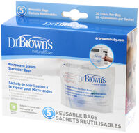 Dr Brown's Microwave Steam Sterilizer Bags 5pkt