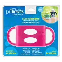 Dr Brown;s Silicone Handles -Pink