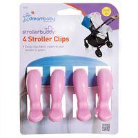 F2213 Stroller Clips 4pkt - Pink