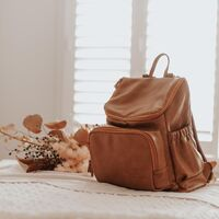 Florence Vegan Leather Nappy Bag Backpack