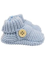 Knitted Button Booties