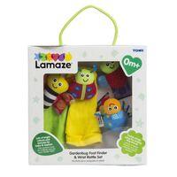 Lamaze Gardenbug Footfinder and Wrist Rattle Set