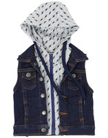 Lightning Bolts Hooded Vest