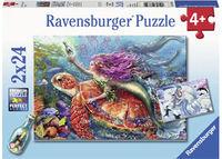 RB078349 Mermaid Adventures 2 x 24pc Puzzle