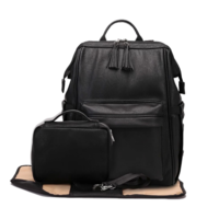 Mia Vegan Leather Nappy Bag Backpack