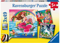Mythical Creatures 3 x 49pc Puzzle