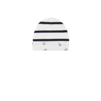 Navy Stripe Reversible Beanie