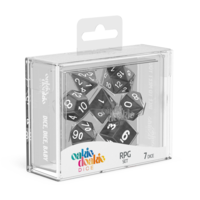 Oakie Doakie Dice RPG Set Marble - Black