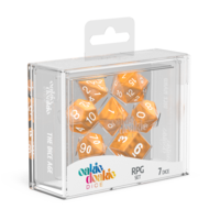 Oakie Doakie Dice RPG Set Marble - Orange