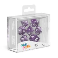 Oakie Doakie Dice RPG Set Marble - Purple