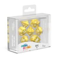 Oakie Doakie Dice RPG Set Marble - Yellow