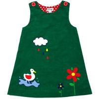 On The Farm Duck Puddles Dress  Green