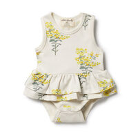 Organic Ruffle Bodysuit -Little Blossom