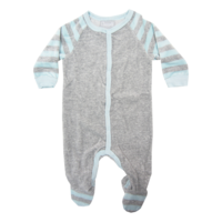 P3961 Romper Blue/Grey