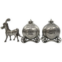 Pewter Horse Drawn Carriages.  First tooth & First curl