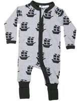 Pirate Ships L/S Romper