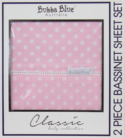 Polka Dot 2 Pce Bassinet Sheet Set
