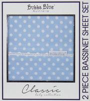 Polka Dot 2 Pce Bassinet Sheet Set