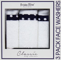 Polka Dot Face Washers 3Pk