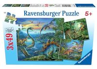 RB093175 Dinosaur Fascination 3 x 49pc Puzzles