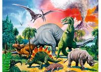 RB109579 Among the Dinosaurs 100pc Puzzl