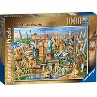 RB198900 World Landmarks 1000pc Puzzle