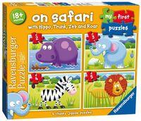 Ravensburger On Safari My First Jigsaw Puzzle 2, 3, 4 & 5 Piece