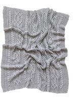 Reilly Knit Blanket - Grey