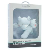 Rhino Run Security Blanket & Rattle Set